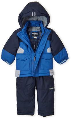 Osh Kosh B'gosh (Infant Boys) Two-Piece Hooded Coat & Snow Bib Set
