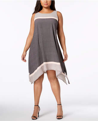 Robbie Bee Plus Size Colorblocked Shift Dress