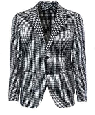 Tagliatore Black And White Wool And Cotton Jacket.