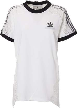 adidas by Stella McCartney Stella Mccartney X Adidas Sheer Lace T-shirt