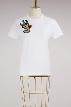 Miu Miu T-shirt with Embroidered Number