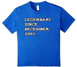 Legendary December 2003 14th Birthday t-shirt