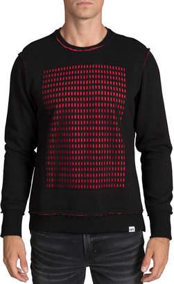 PRPS Men's Perforated-Panel Crewneck Sweater