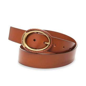 MICHAEL Michael Kors Michael Kors Womens Wrapped Eclipse-Buckle Leather Belt