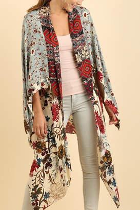 Umgee USA Long Floral Kimono
