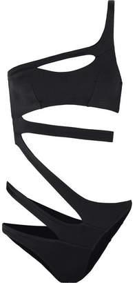 Agent Provocateur Lexxi One-shoulder Cutout Swimsuit - Black