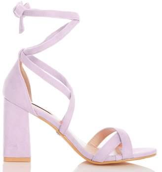 17ab517a2a Dorothy Perkins Womens *Quiz Lilac Block Heel Sandals