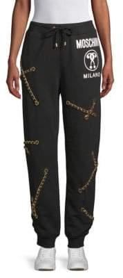 Moschino Draped Chain Joggers