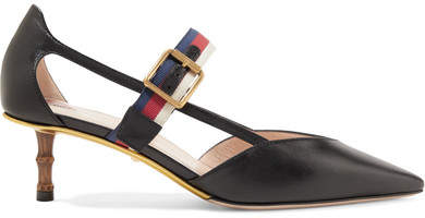 Gucci - Bamboo-trimmed Leather Pumps - Black