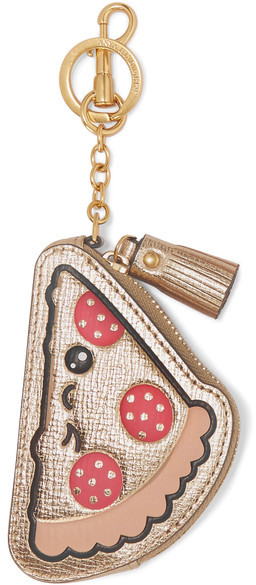 Anya HindmarchAnya Hindmarch - Embossed Metallic Textured-leather Coin Purse - Gold