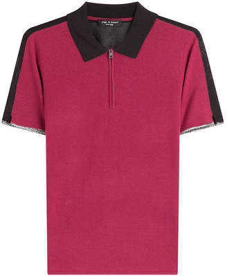 Rag & Bone Knit Colorblock Polo Shirt