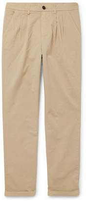 Barena Tapered Stretch-Cotton Twill Trousers