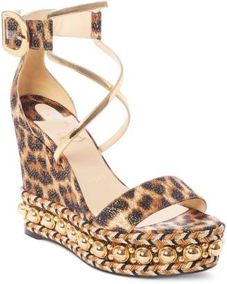 Christian Louboutin Chocazeppa Ornament Platform Wedge Sandal