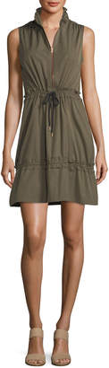 See by Chloe Cargo Drawstring Fit-&-Flare Mini Dress