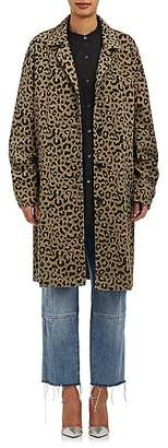 Robert Rodriguez Women's Leopard-Print Twill Coat