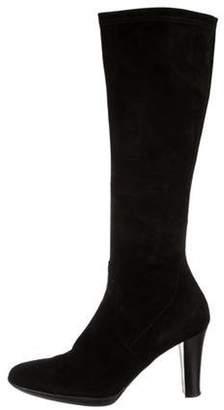 Aquatalia Suede Knee-High Boots Black Suede Knee-High Boots