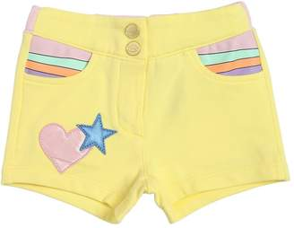 Little Marc Jacobs Cotton Sweat Shorts W/ Patch Details