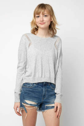 Fate By Lfd Fate by LFD Long Sleeve Pointelle Cropped Pullover