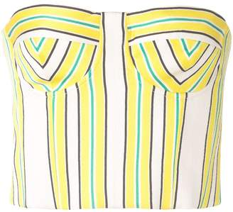 Alexis Summer striped bustier top