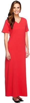 Denim & Co. Essentials Regular Short Sleeve Maxi Dress