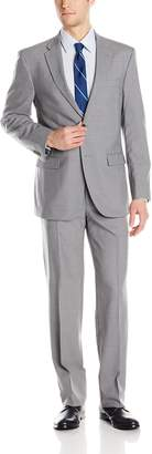 Tommy Hilfiger Men's Vasser Side Vent Suit 2 Button, Light Gray