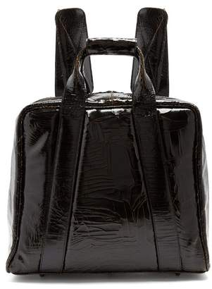 Marc Marmel Mack Cracked Leather Backpack - Mens - Black