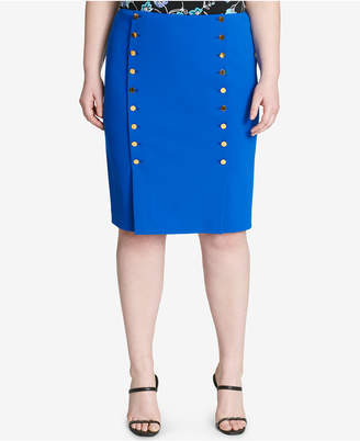 Calvin Klein Plus Size Embellished Pencil Skirt