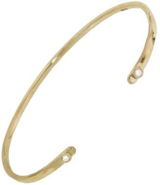 Melissa Joy Manning Diamond Forged Cuff Bracelet - Yellow Gold