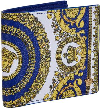 Versace Leather-Embossed Medusa Wallet