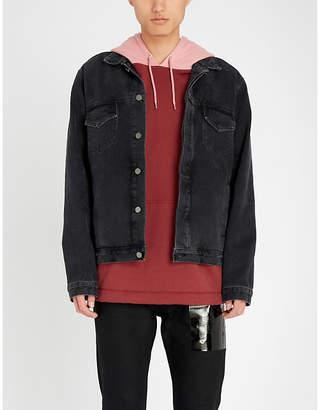 424 Fear Trucker faded denim jacket
