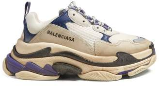 Balenciaga - Triple S Trainers - Womens - Blue White