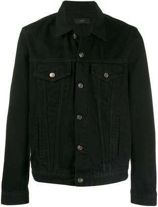 embroidered back denim jacket