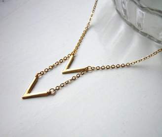 LaBelle et la Bete Chevron Necklace