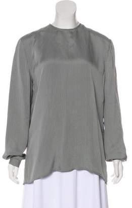 Giorgio Armani Long Sleeve Button-Up Blouse