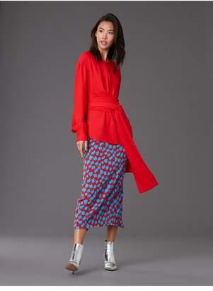 Diane von Furstenberg Long Sleeve Wrap Blouse