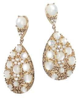 Mother of Pearl Pasquale Bruni 18K Rose Gold Champagne Diamond, Champagne Diamond & Drop Earrings