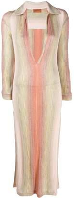 Missoni Mare deep V-neck dress