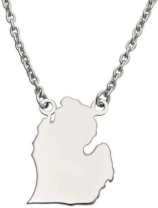 FINE JEWELRY Personalized Sterling Silver Michigan Pendant Necklace