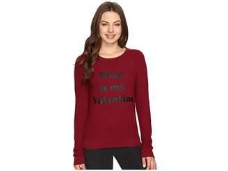 PJ Salvage Wine Is My Valentine Sweatshirt Women's Pajama