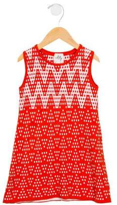 Milly Girls' Knit Patterned Dress
