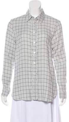 Jenni Kayne Checkerboard Boyfriend Button-Up w/ Tags