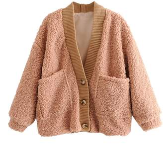 Goodnight Macaroon 'Mallory' Teddy Bear Button Down Cardigan (4 Colors)