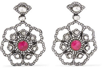 Amrapali 18-karat Gold, Diamond And Ruby Earrings - Silver