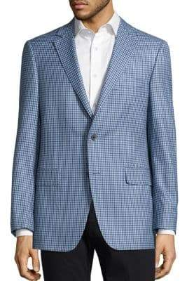 Saks Fifth Avenue COLLECTION BY SAMUELSOHN Classic-Fit Gingham Wool Sport Coat