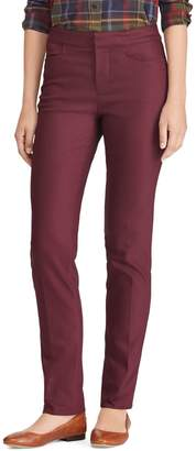 Chaps Petite Mid-Rise Cotton Blend Skinny Pants