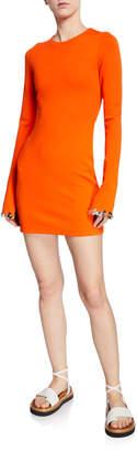 3.1 Phillip Lim Embellished Long-Sleeve Jersey Mini Dress