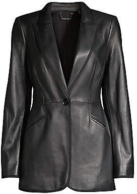 Elie Tahari Women's Madison Single-Breasted Leather Jacket