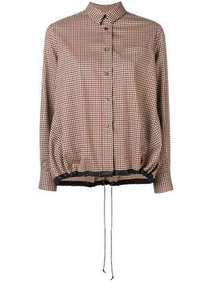 Alberto Biani check drawstring shirt