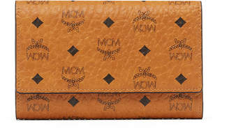 MCM Three Fold Wallet In Visetos Original
