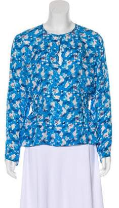 Tanya Taylor Silk Patterned Top